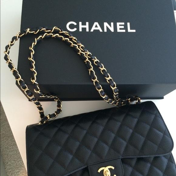 2a4884da1cc8 CHANEL Handbags - Chanel Caviar Quilted Jumbo double Flap Handbag